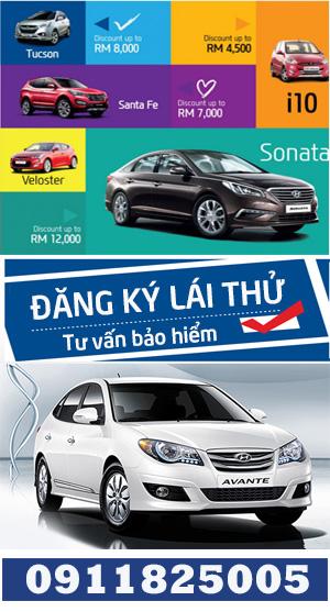 đăng ký lái thử ô tô hyundai